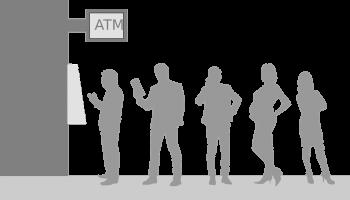 Queue at ATM
